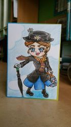 Mary Poppins(Chibi Style) by BveanikaS
