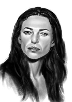 Claudia Black sketch by tonyob