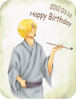 Happy Birthday, Sanji !!! by TaiyoHisakawa