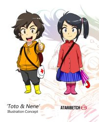Toto and Nene Chibi concept by AtariBetch