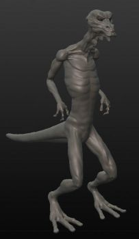 WIP creature study 2 by hijavines