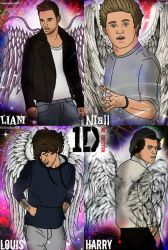 One Direction Angel Collage by OneDirectionARTx