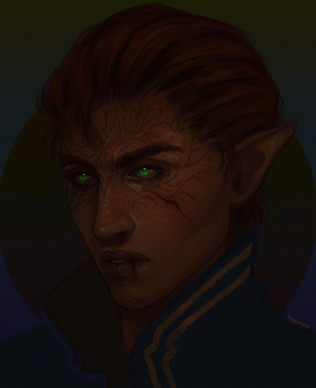 Lavellan (commission) by Herssian