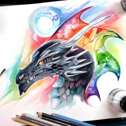 Rainbow Dragon by Lucky978