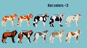 (CLOSED) Koi colored wolves by Project-TMH