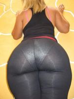 Black Workout Pants Pawg by DrTicklerOfSoftSoles