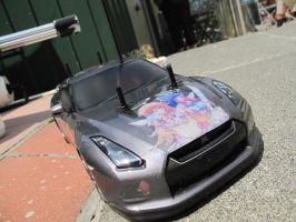 Panty and Stocking Nissan GT-R 11 by DenWingZero