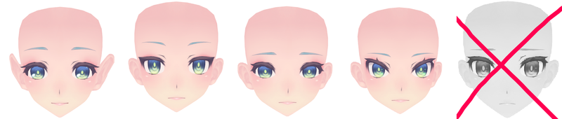 MMD Face edit pack! by PotatoElla1