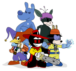 Five Fearsome Toons by Gamerboy123456