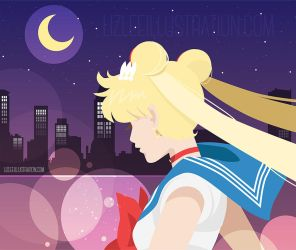 Fighting Evil by Moonlight - vector by lizleeillustration