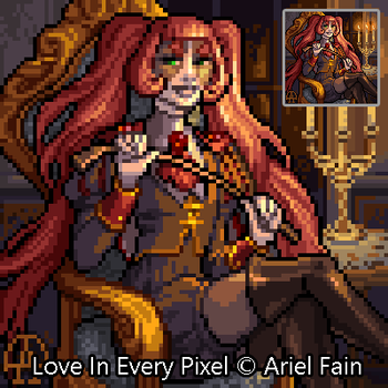 Pixel Commission - Adeline by HotahMai