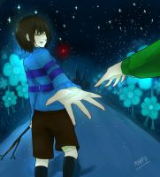 Undertale : holding my hand by twisteraom