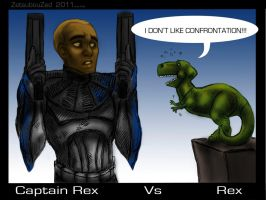 Captain Rex vs Rex by ZetsubouZed