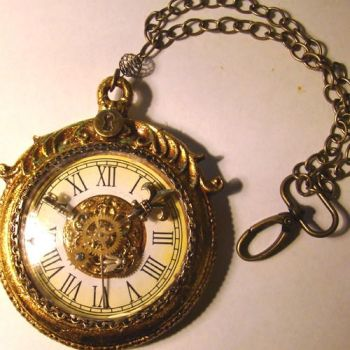 Mad Hatter Bling Pocketwatch by SteamSociety