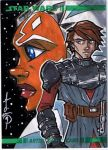 Topps Clone Wars Sketch Card by Hodges-Art