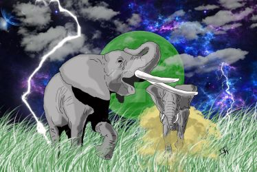 Elephants by GalaxyZento
