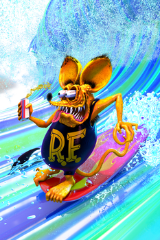 Rat Fink Surfs! by JWraith