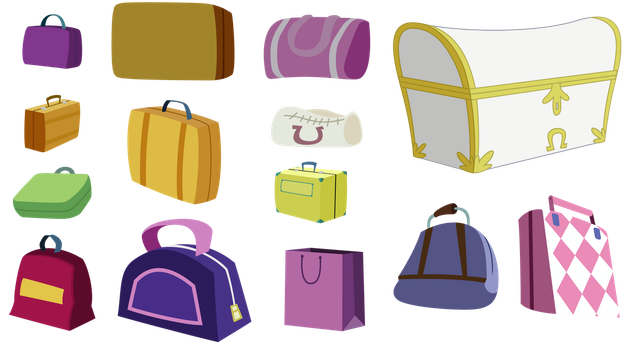 Ponyville luggage by TechRainbow