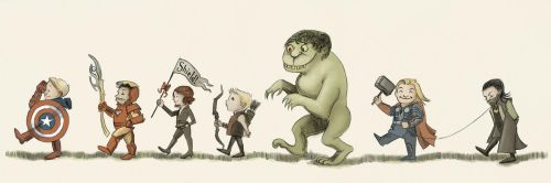 Avengers on Parade (RIP Maurice Sendak) by AgarthanGuide