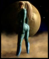 Samus Zero suite spacescape by Destinyfall