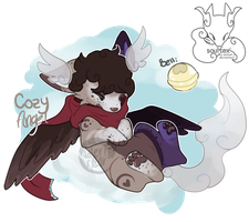 Cozy Angel - SoulFox Adoptable (closed-Auction) by peipaw