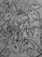 Twitch Plays Pokemon - Reds sketch by albinoshadow