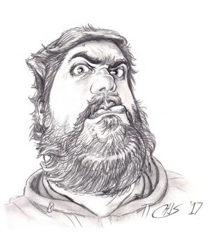 COMMISSION - Tim Caricature by Wisdom-Thumbs