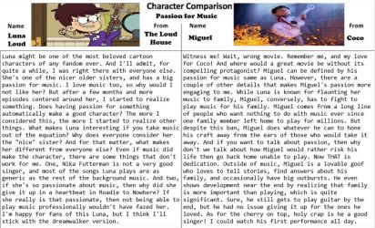 Character Comparison #17: Passion For Music by RaccoonBroVA