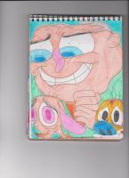 George Liquor with Ren and Stimpy 1 by RozStaw57