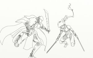 Ayanei vs Duros 2014 (Pencils) by mistformsquirrel