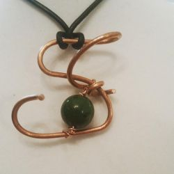 Abstract copper pendant by MurcMarischal