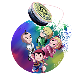 A redesign for the Fan of earthbound by silverflamng