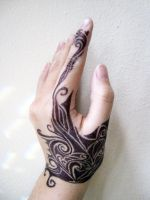 Tribal-Inspired Tattoo Side by kristollini