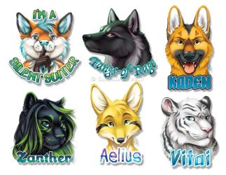 More Polished Portrait Badges - 2017 by GoldenDruid