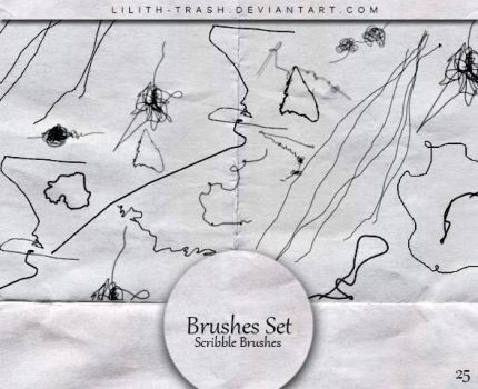 Scribble Brushes #25 by LilithDemoness