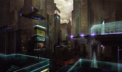 Another Sci Fi city! by duncanli