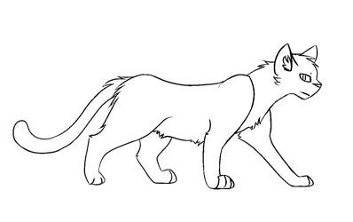 F2U Shadowclan Warrior Cat Lineart by popfiish