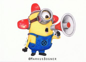 Minion, Bee-Do (My first colored pencil drawing) by MarkusBogner