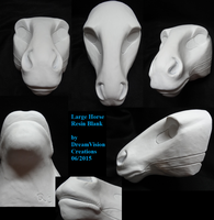 Large Horse Resin Blank by DreamVisionCreations
