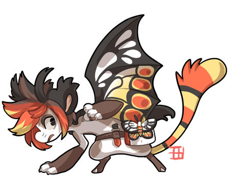 #967 Bagbean w/m - Common jezebel - Auction by griffsnuff