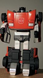 Sideswipe G1- Repaint from a 1982 Red Alert 3 by Hikaru84