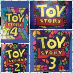 Toy Story 1 2 3 4 Art Colorful Design Drawing  by NWeezyBlueStars23