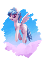 Cyra Cloudheart, Mazes and Mares Pre-Gen Character by brainflowcrash