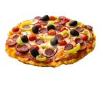 Cooked pizza on a transparent background. by PRUSSIAART