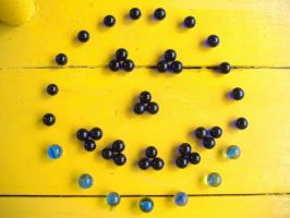 Blue Marbles 3: Smiley by richardxthripp