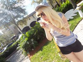(MLP) Derpy Blowing Bubbles (Cosplay) by KrazyKari
