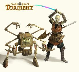 Planescape: Torment: Dak'kon and Nordom by denis48
