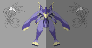 Harmor Orthographic WIP by Garm-r