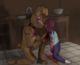 (Springtrap and Deliah) Forever.. by Little-Balloonicorn