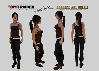 Lara Croft - Clean Concept Art Outfit Download by hellenys